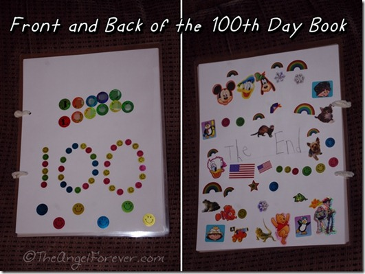 100th Day of School Project Book