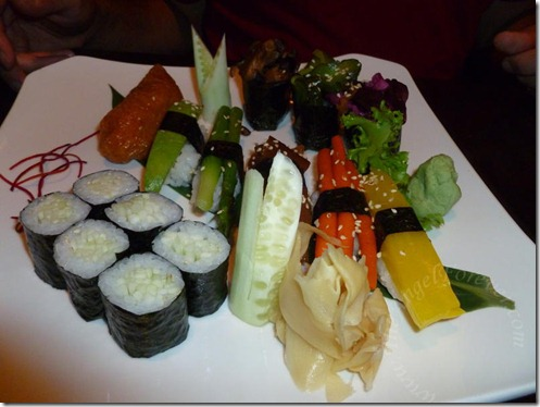 Vegetable Sushi Meal