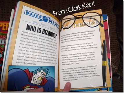 Summary page from Clark Kent