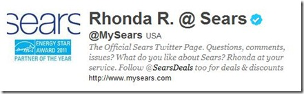 My Sears on Twitter
