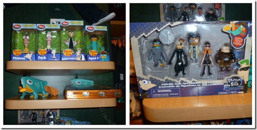 Some Phineas and Ferb merchandise