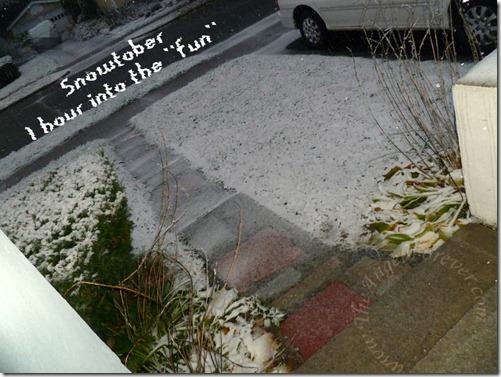 Snowtober 1 hour in