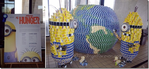 Canstruction - Minion-Mize HUNGER