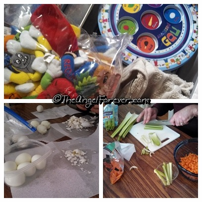 Items getting ready for Passover Seder