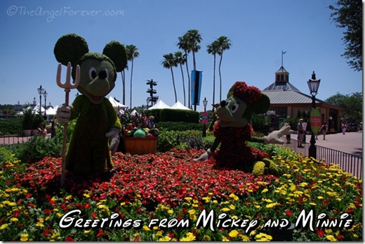 Mickey and Minnie at Epcot Flower and Garden Festival