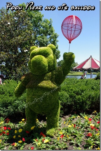 Winnie the Pooh topiary in Epcot