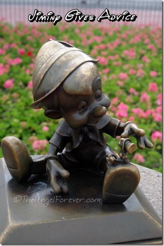 Jiminy and Pinocchio at The Magic Kingdom