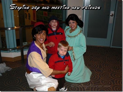 Meeting Aladdin and Jasmin