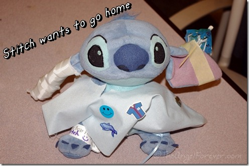 Stitch after the Teddy Bear Hospital