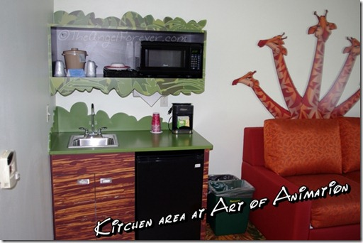 Kitchen area at Art of Animation Resort