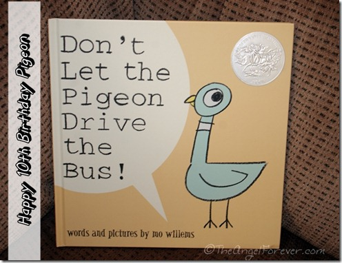 Mo Willems' Pigeon Celebrates 10 years