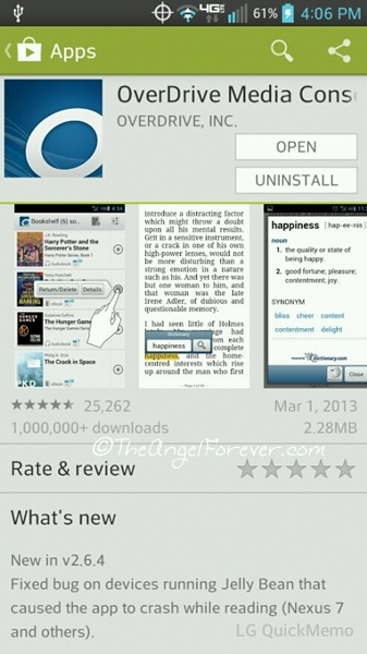 Tuesday tales reading with overdrive media app the angel forever - Android console application ...