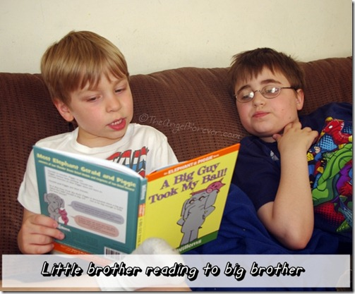 Reading Mo Willems book together