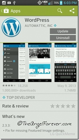 WordPress App for Android Phones
