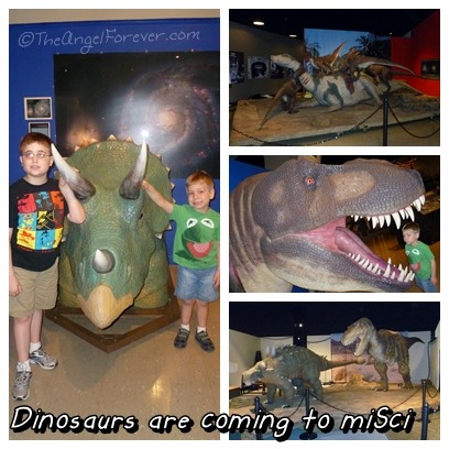Dinosaurs at miSci in Schenectady