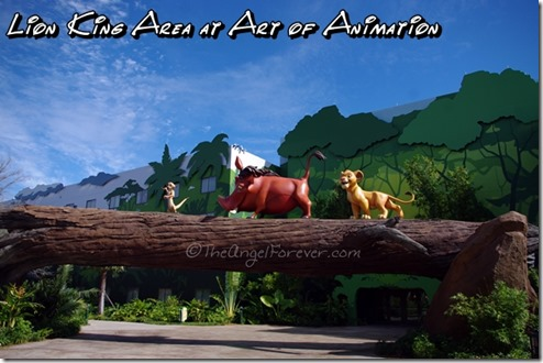 Lion King area of Art of Animation Resort