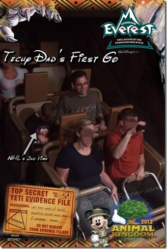TechyDad and big kid head on Expedition Everest
