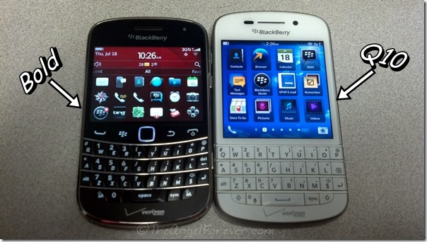 BlackBerry Bold vs Q10