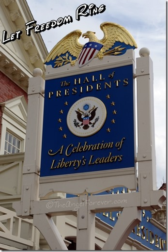 Hall of Presidents perfect location for July 4