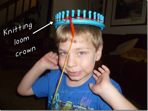 Knitting Loom Crown