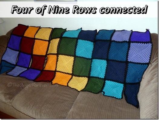 Putting Granny Square Crochet Blanket Together