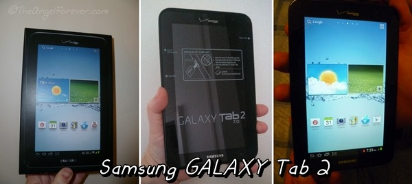 The Samsung Galaxy Tab 2 from Verizon