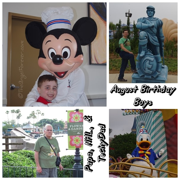 August Birthday Boys and Disney Memories