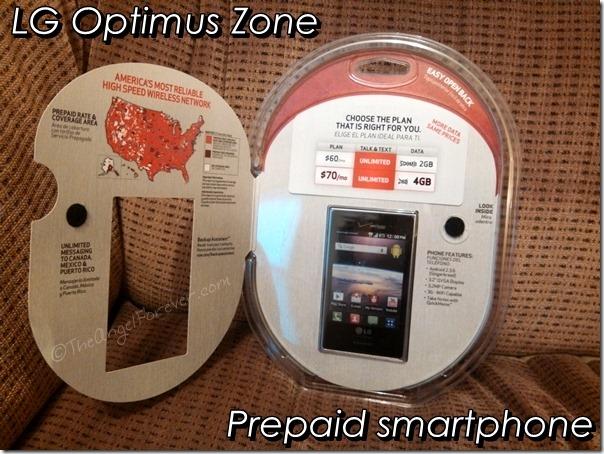LG Optimus Zone - prepaid smartphone