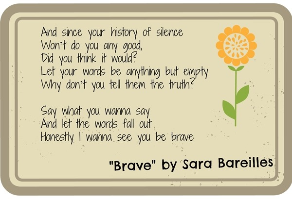 Brave by Sara Bareilles