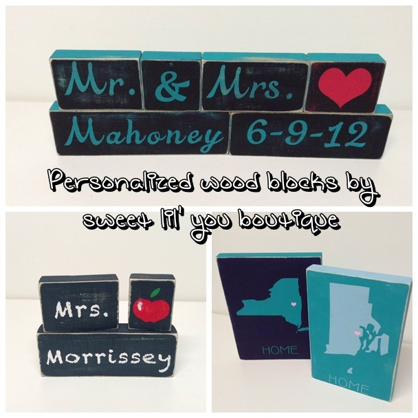 Personalized Wood Blocks from sweet lil' you boutique