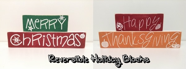 Reversible Holiday Blocks from Sweet Lil You Boutique