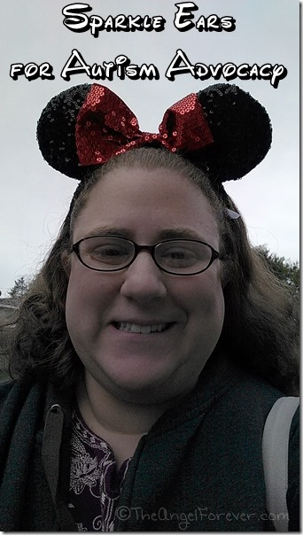 Sparkle Minnie Ears for Autism Advocacy