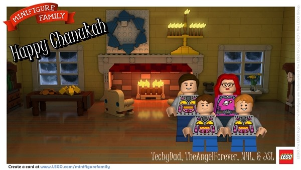 Happy Chanukah from our LEGO family