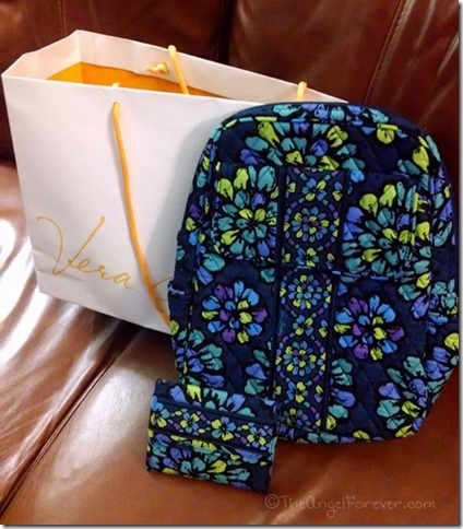 Vera Bradley Birthday Backpack and wallet