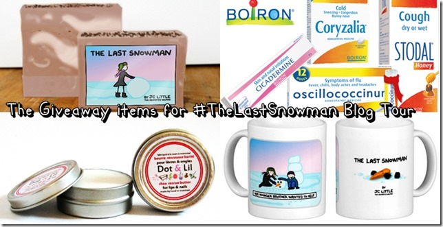 Giveaway Items for The Last Snowman Blog Tour