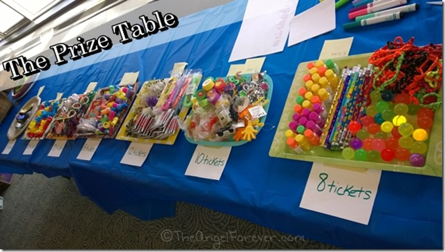 Purim Prize Table
