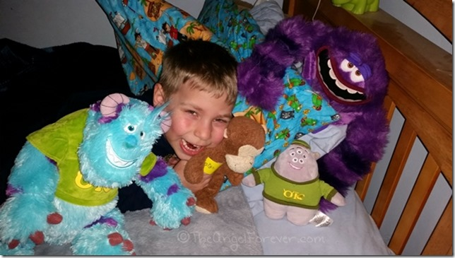 Smiling through the exhaustion with his Monster friends