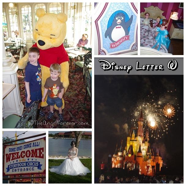 Magical Disney Letter W Memories