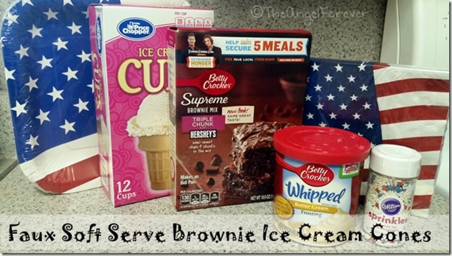 Items for Faux Soft Serve Brownie Ice Cream Cones