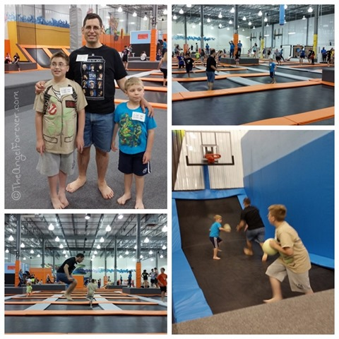Jumping at the Albany Flight Trampoline Park