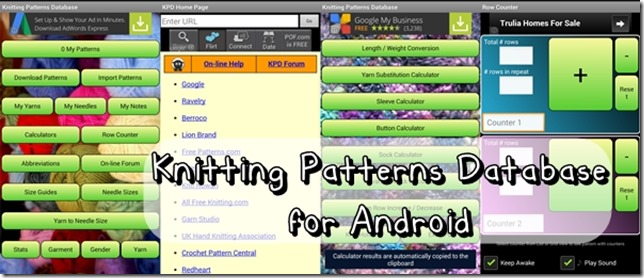 Knitting Patterns Database Apk : Three Fiber Arts Apps for Android The Angel Forever