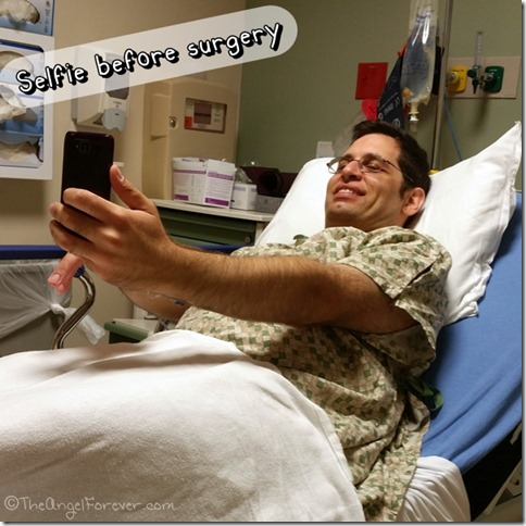 Selfie before surgery