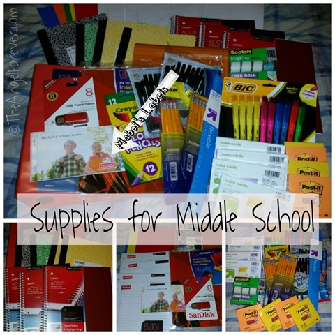 Mabel's Labels and Middle School Supplies