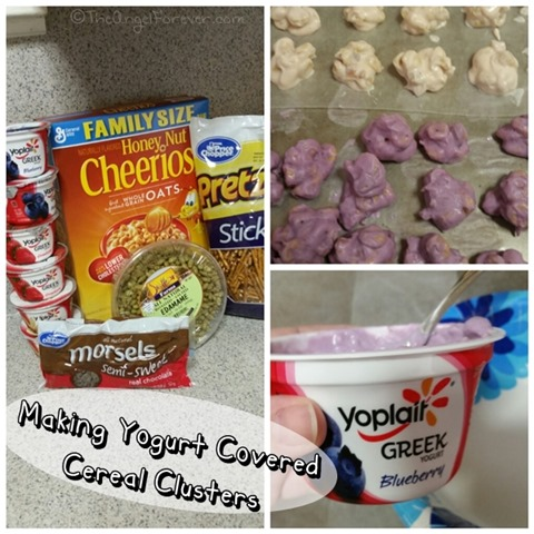 Making Yogurt Covered Cereal Clusters