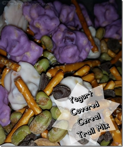 Yogurt Covered Cereal Trail Mix for Snack