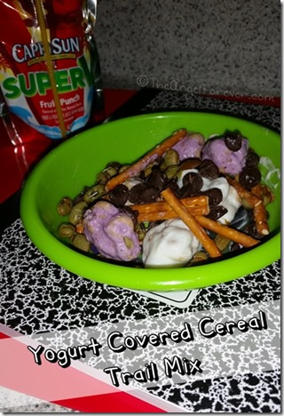 Yogurt Covered Cereal Trail Mix