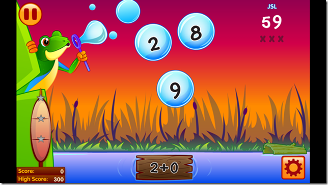 Bubble Pop Math Challenge 1-2 - addition