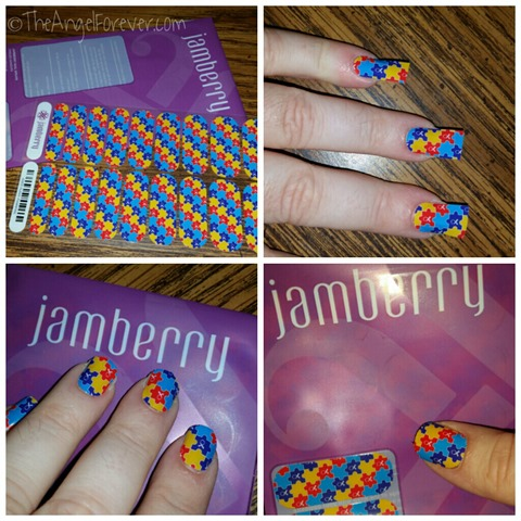 First Jamberry Nail Wrap Manicure