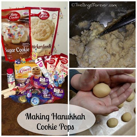 Making Hanukkah Cookie Pops