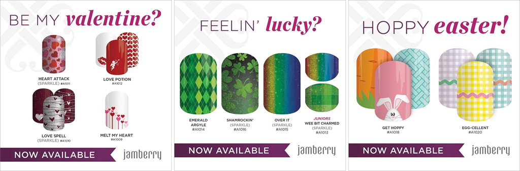 Jamberry Spring 2014 Holiday Designs